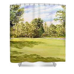 Perry Golf Course Florida Shower Curtain by Bill Holkham
