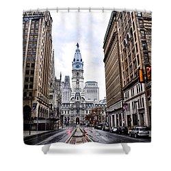 Philadelphia City Hall  Shower Curtain by Bill Cannon