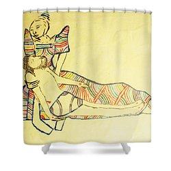 Pieta Shower Curtain by Gloria Ssali