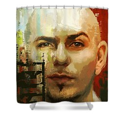 Pitbull Shower Curtain by Corporate Art Task Force