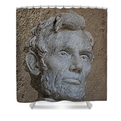 President Lincoln Shower Curtain by Skip Willits