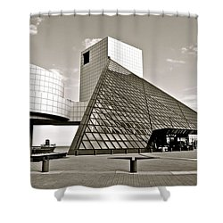 Rock Hall Of Fame Shower Curtain by Frozen in Time Fine Art Photography