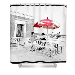 Seaside Sketch Shower Curtain by Natasha Marco