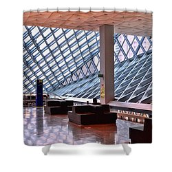 Seattle Library Reading Room 2 Shower Curtain by Allen Beatty
