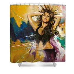 Shakira Shower Curtain by Corporate Art Task Force