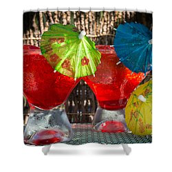 Shirley Temple Cocktail Shower Curtain by Iris Richardson