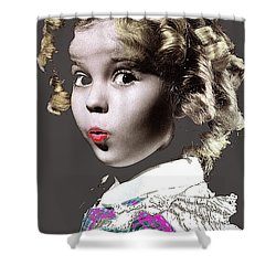 Shirley Temple Publicity Photo Circa 1935-2014 Shower Curtain by David Lee Guss