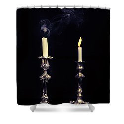 Smoking Candle Shower Curtain by Amanda Elwell