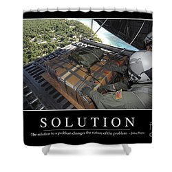 Solution Inspirational Quote Shower Curtain by Stocktrek Images