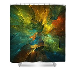 Somewhere In The Universe Shower Curtain by Klara Acel