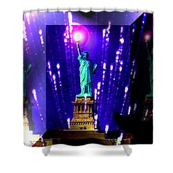Statue Of Liberty Shower Curtain by Daniel Janda