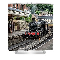 Steam Train Shower Curtain by Adrian Evans