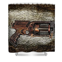 Steampunk - Gun - The Multiblaster Shower Curtain by Paul Ward