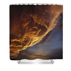 Sunset On Storm Clouds Near Mt Cook Shower Curtain by Ian Whitehouse