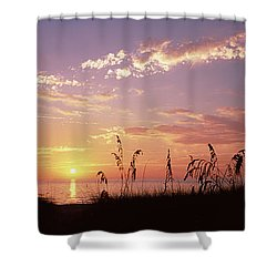 Sunset Over The Sea, Venice Beach Shower Curtain by Panoramic Images