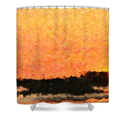 Sunset Shower Curtain by Toppart Sweden