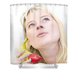 Talking Bananas Shower Curtain by Jorgo Photography - Wall Art Gallery