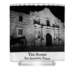 The Alamo Shower Curtain by Stephen Stookey