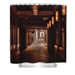 The Alleyway Shower Curtain by Joann Vitali