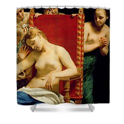 The Death Of Cleopatra  Shower Curtain by Guido Cagnacci