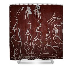 The Five Wise Virgins Shower Curtain by Gloria Ssali