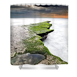 The Green Path Shower Curtain by Jorge Maia