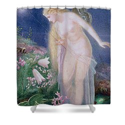 The Honey-bags Steal From The Humble Bees Shower Curtain by John Simmons