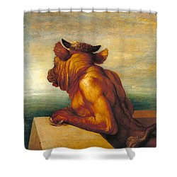 The Minotaur Shower Curtain by George Frederic Watts