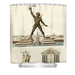 The Seven Wonders Of The World Shower Curtain by Splendid Art Prints