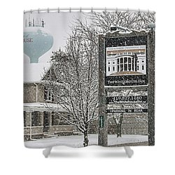 The Whitehouse Inn Sign 7034 Shower Curtain by Jack Schultz