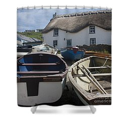 Tinker Taylor Cottage Sennen Cove Cornwall Shower Curtain by Terri Waters