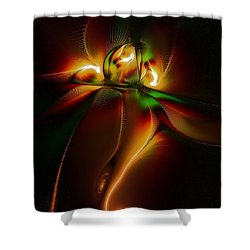 Twin Souls Shower Curtain by Amanda Moore
