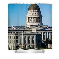 Utah State Capitol Building, Salt Lake Shower Curtain by Panoramic Images