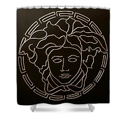 Versace Medusa Head Shower Curtain by Peter Virgancz