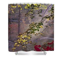 Wissahickon Autumn Shower Curtain by Bill Cannon