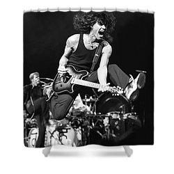 Van Halen - Eddie Van Halen Shower Curtain by Concert Photos