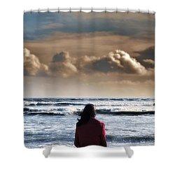 Waiting Shower Curtain by Joana Kruse