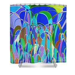 1014 Abstract Thought Shower Curtain by Chowdary V Arikatla
