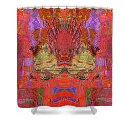 1074 Abstract Thought Shower Curtain by Chowdary V Arikatla