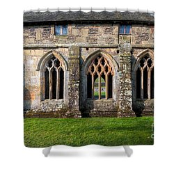 13th Century Abbey Shower Curtain by Adrian Evans