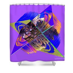 1422 Abstract Thought Shower Curtain by Chowdary V Arikatla