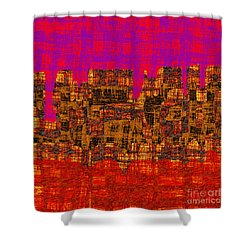1457 Abstract Thought Shower Curtain by Chowdary V Arikatla
