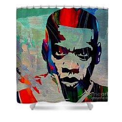 Jay Z Shower Curtain by Marvin Blaine