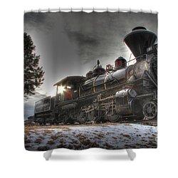 Shower Curtain featuring the photograph 1880 Train by Bill Gabbert