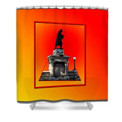 1898 Firemen Memorial Shower Curtain by Thomas Woolworth