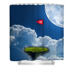 18th Hole Shower Curtain by Marvin Blaine