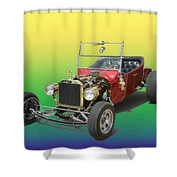 1923  Ford T Bucket  Shower Curtain by Jack Pumphrey