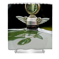 1927 Chandler 4-door Hood Ornament Shower Curtain by Jill Reger