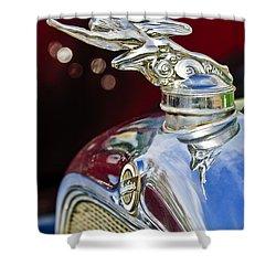 1928 Studebaker Hood Ornament 2 Shower Curtain by Jill Reger