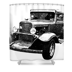1930 Chevy Shower Curtain by Guy Whiteley